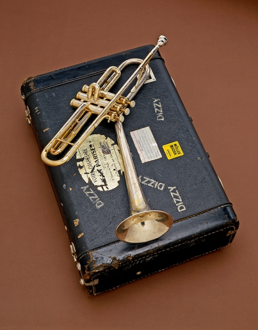 Dizzy Gillespie's B-flat trumpet, 1972. In the 1940s, Gillespie, renowned for his harmonic complexity and scat singing, became a major figure in developing the modern jazz style known as bebop. Gillespie pushed the technical virtuosity of the trumpet, wrote influential compositions, helped introduce Afro-Cuban rhythms into jazz and through his showmanship helped spread the popularity of bebop. (Photo courtesy of the National Museum of American History)