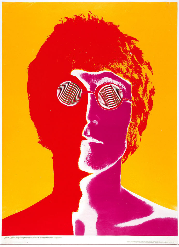 Poster of John Lennon (1967) designed by Richard Avedon for Richard Avedon Posters, Inc. Acquired by Cooper Hewitt, Smithsonian Design Museum through various donors in 1981.