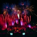 Fireworks over Castle, for the 150th Smithsonian Institution Birthday Celebration. (Photo by Eric Long)