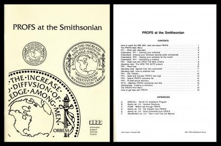 PROFS User Manual, 1990. (Courtesy of David Bridge)