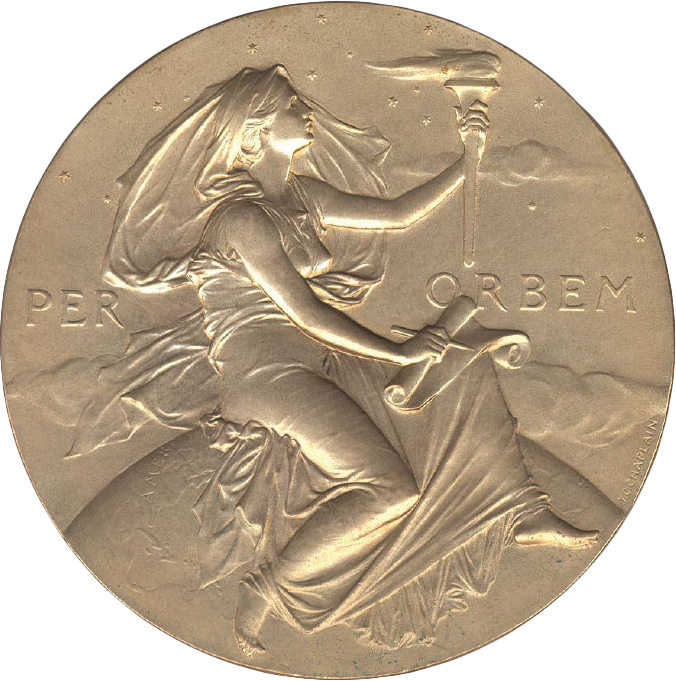 The Hodgkins Medal, established in 1893 in honor of Thomas George Hodgkins, who willed his fortune to the Smithsonian, is awarded for important contributions to the understanding of the physical environment as it affects the welfare of man.