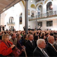Staff and invited guests filled the historic Arts and Industries Building for the installation of Dr. David Skorton as 13th Secretary, Oct. 19, 2015. (Photo By Joyce Boghosian)