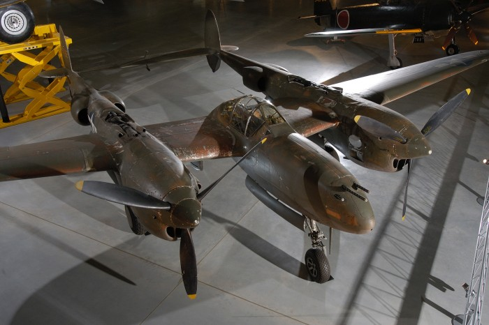"In the P-38 Lockheed engineer Clarence ""Kelly"" Johnson and his team of designers created one of the most successful twin-engine fighters ever flown by any nation. From 1942 to 1945, U. S. Army Air Forces pilots flew P-38s over Europe, the Mediterranean, and the Pacific, and from the frozen Aleutian Islands to the sun-baked deserts of North Africa. Lightning pilots in the Pacific theater downed more Japanese aircraft than pilots flying any other Army Air Forces warplane. Maj. Richard I. Bong, America's leading fighter ace, flew this P-38J-10-LO on April 16, 1945, at Wright Field, Ohio, to evaluate an experimental method of interconnecting the movement of the throttle and propeller control levers. However, his right engine exploded in flight before he could conduct the experiment."