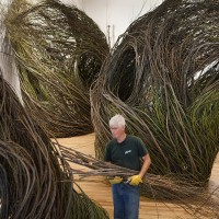 Patrick Dougherty, Shindig, 2015 Renwick Gallery of the Smithsonian American Art Museum Photos by Ron Blunt