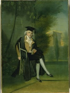 A young James Smithson, dressed in Oxford regalia, by James Roberts, ca. 1786