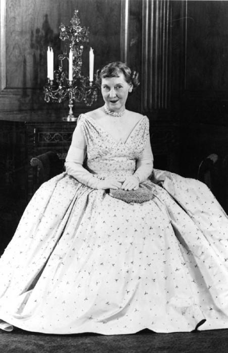 Mamie Eisenhower wearing gown