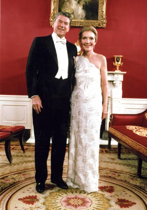 Reagans posing in evening wear
