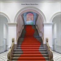A rug by Odile Decq graces the stairs to the Nancy Brown Negley Hall at the renovated Renwick Gallery, Smithsonian's American Art Museum. (Photo by Ron Blunt)