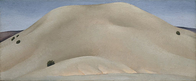 Soft Gray, Alcade Hill, 1929 - 1930 Georgia O'Keeffe, American, b. Sun Prairie, Wisconsin, 1887–1986 Oil on canvas, 10 1/8 x 24 1/8 in. (25.5 x 61.2 cm) Hirshhorn Museum and Sculpture Garden, Smithsonian Institution, Washington, DC, Gift of Joseph H. Hirshhorn, 1972