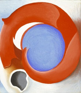 Goat's Horn With Red, (1945) Georgia O'Keeffe, American, b. Sun Prairie, Wisconsin, 1887–1986 Pastel on paperboard, mounted on paperboard, 27 7/8 x 31 11/16 in. (70.7 x 80.4 cm) Hirshhorn Museum and Sculpture Garden, Smithsonian Institution, Washington, DC, Gift of Joseph H. Hirshhorn, 1972