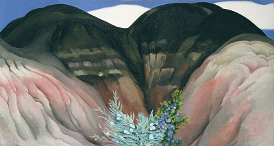 Black Hills with Cedar, 1941-1942 Georgia O'Keeffe, American, b. Sun Prairie, Wisconsin, 1887–1986 Oil on canvas, 16 x 30 in. (40.6 x 76 cm) Hirshhorn Museum and Sculpture Garden, Smithsonian Institution, Washington, DC, The Joseph H. Hirshhorn Bequest, 1981