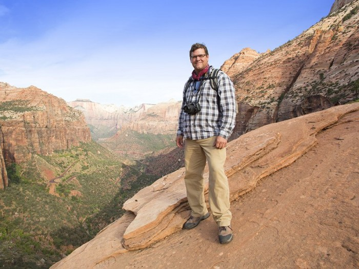 """Kirk Johnson, the director of the National Museum of Natural History and the star of a new Nova series """"Making North America."""" (WGBH)"""