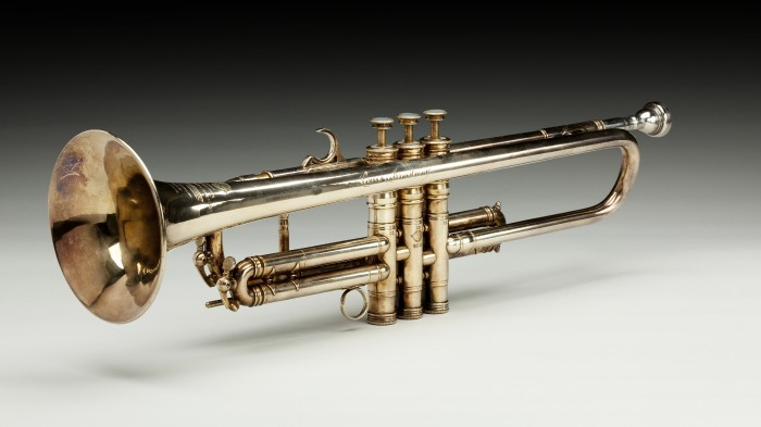 A trumpet once owned by jazz great Louis Armstrong, part of the collections of the Smithsonian's National museum of African American history and Culture.