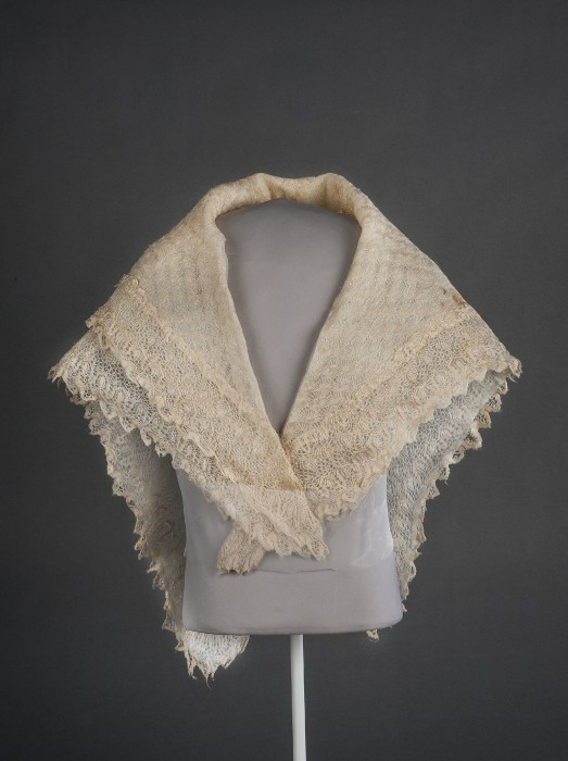 A shawl that belonged to abolitionist and humanitarian Harriet Tubman, part of the collections of the Smithsonian's National Museum of African American History and Culture.