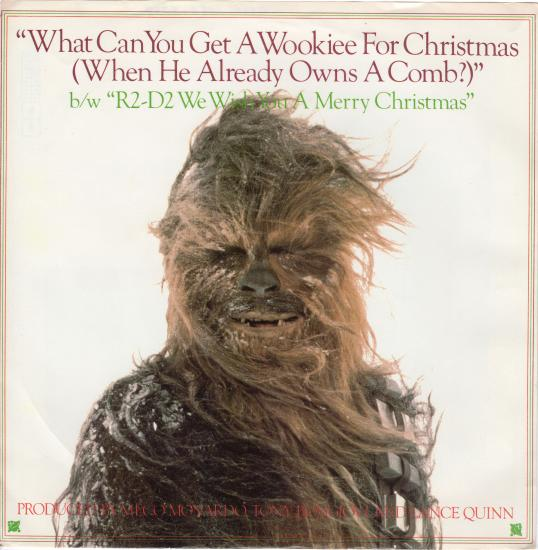 "The cover to the 45 record for ""What Can You Get a Wookiee for Christmas (When He Already Owns a Comb)"" and ""R2-D2 We Wish You a Merry Christmas"" (2000.3053.4054)"