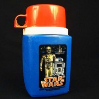 Star Wars Episode IV: A New Hope thermos from the original 1977 film.