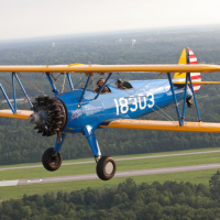 This Boeing-Stearman PT-13D Kaydet, c. 1944—one used at Alabama's renowned Tuskegee Institute to train African American pilots for Army air corps service during World War II, is among the collections of the new Natio0nal Museum of African American History and Culture.