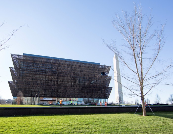The Smithsonian's National Museum of African American History and Culture. (Photo by Michael Barnes)