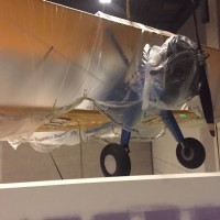 The historic biplane awaits its unveiling when the National Museum of African American History and Culture opens in September 2016.