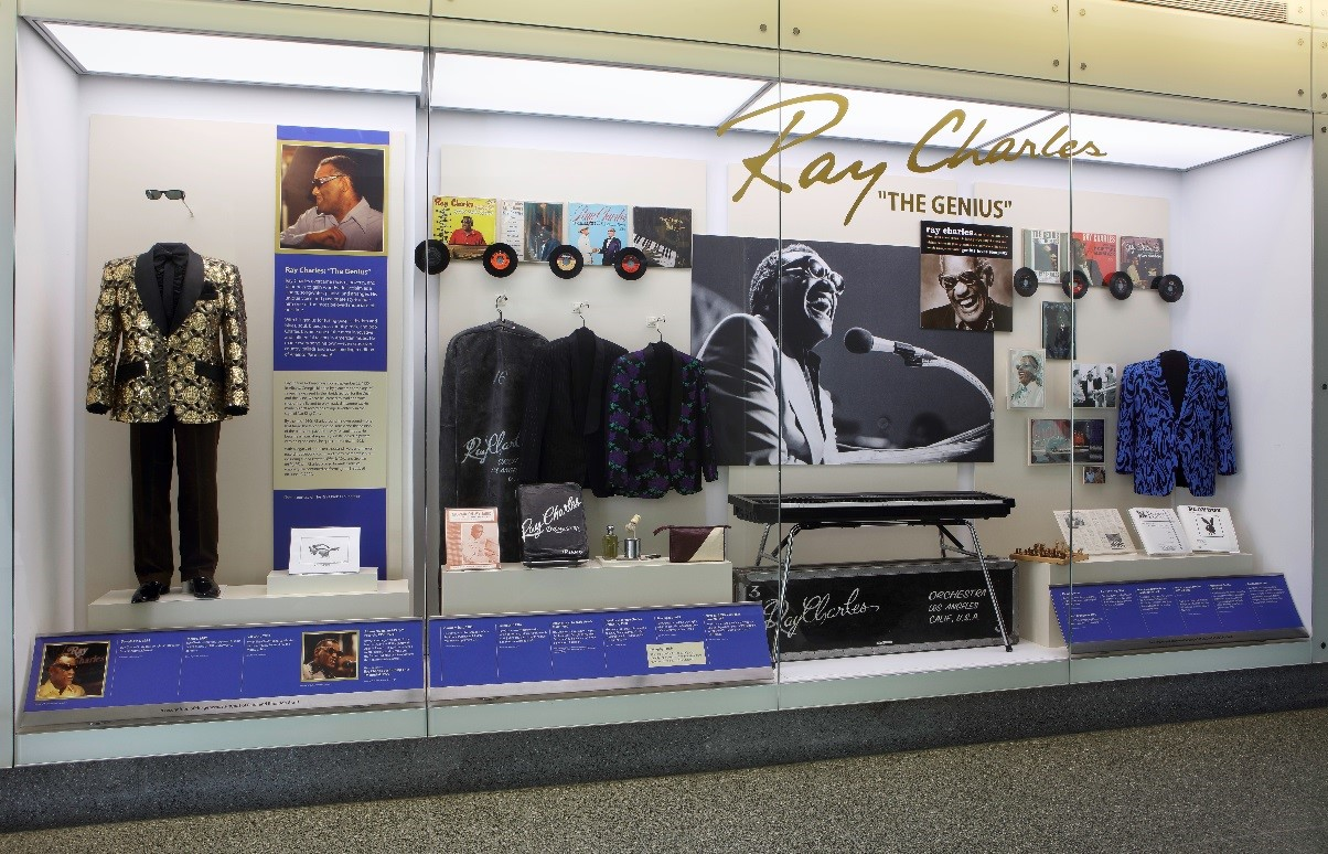 """Ray Charles """"The Genius"""" courtesy Smithsonian's National Museum of American History."""