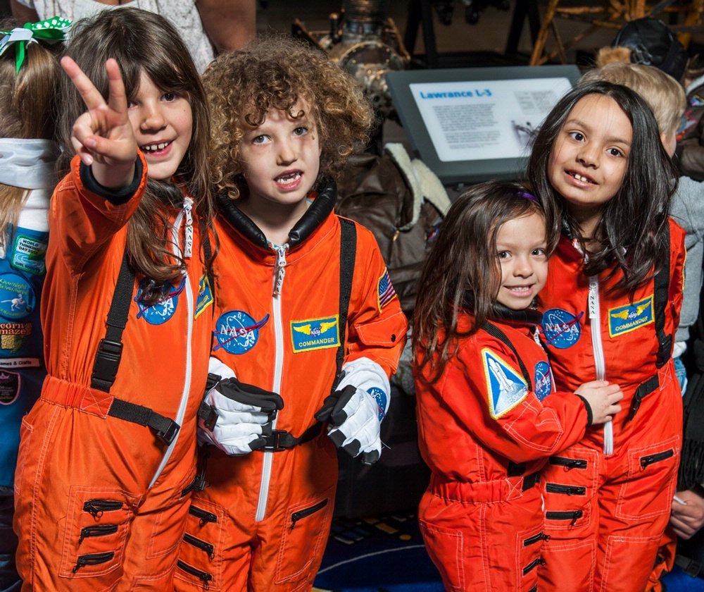 Young astronauts in training enjoy Family Day at the National Air and Space Museum. (Photo by Dane Penland)