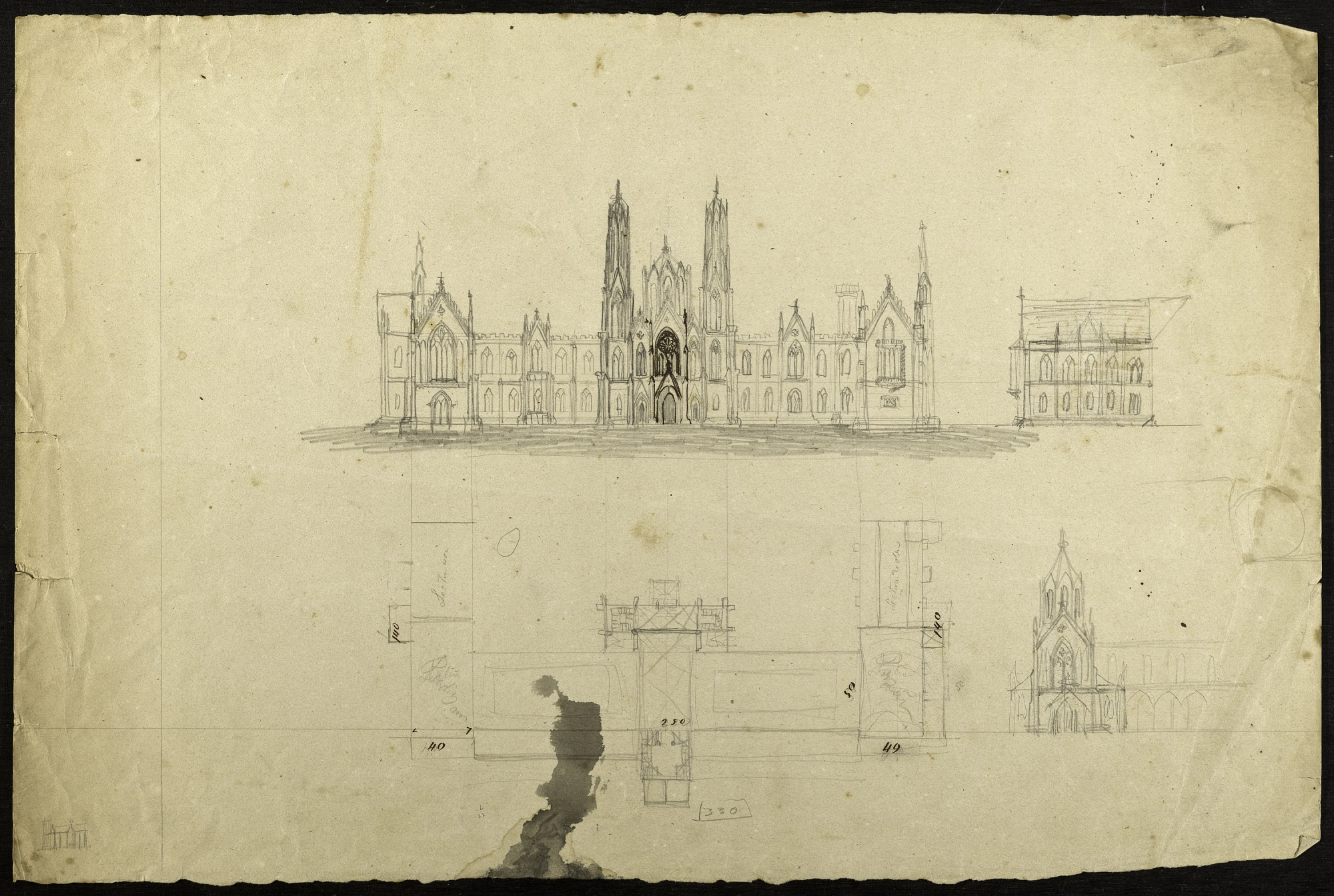 Renwick sketches of the Castle