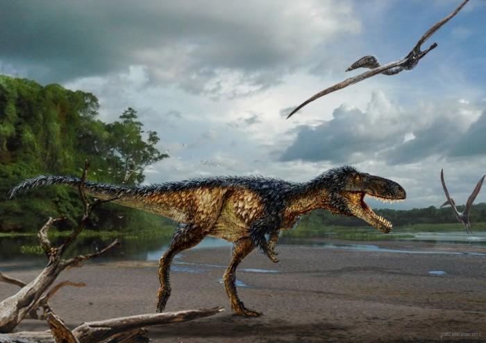 Artits rendering of new dinosaur