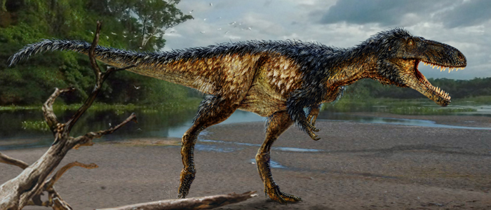 Artists rendition of new dinosaur (detail)