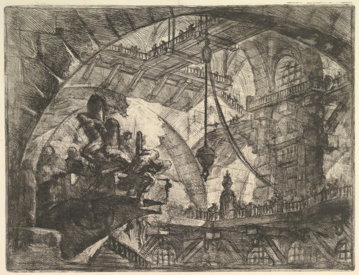 Etching by Piranesi