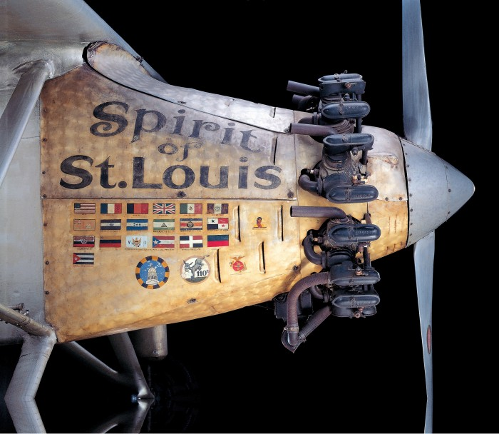 Painted nose cone of Spirit of St Louis