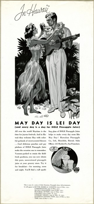 Print ad for Lei Day