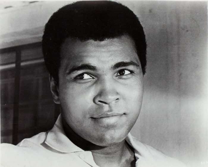 Black and white photo of young Muhammad Ali