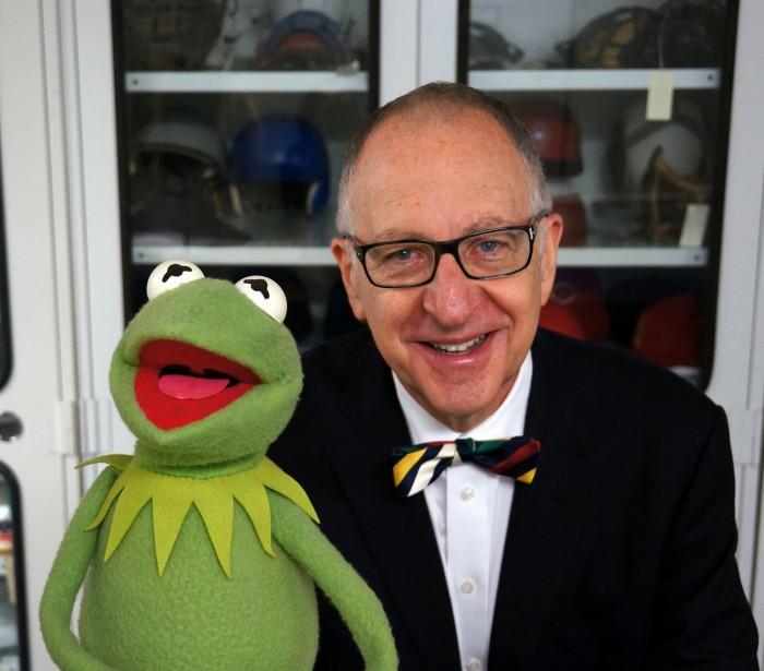 Secretary with Muppet