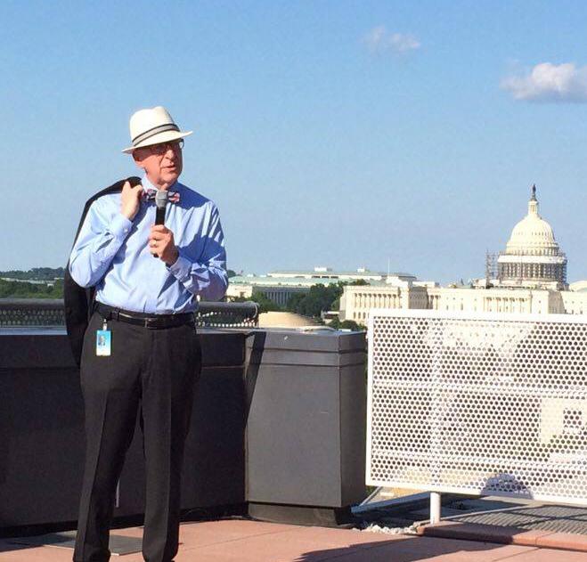 Secretary Skorton with US Capitol in background