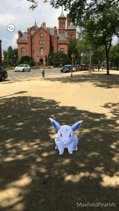 Screen grab from game Pokemon Go