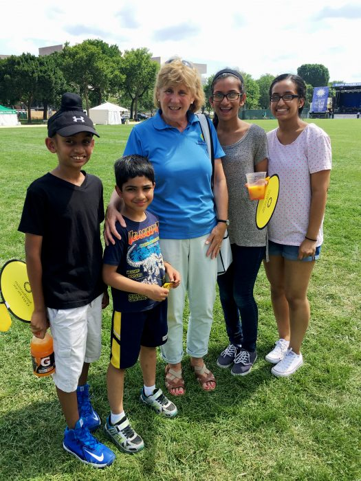 Four children with Nancy Bechtol on the national mall