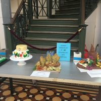 Elaborate cakes on display at the Arts and Industries building