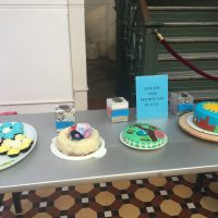 Elaborate cakes on display