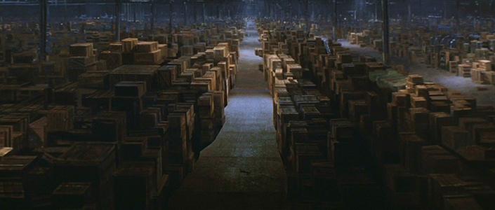 Still image showing massive warehouse