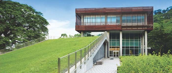 cropped photo showing exterior of new Gamboa lab in Panama