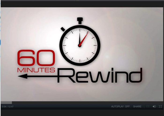 Screenshot showing 60 Minutes logo