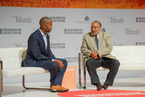 Lonnie Bunch on stage for Atlantic Ideas Forum
