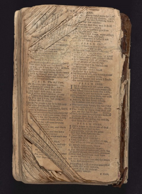 Bible with torn and missing pages