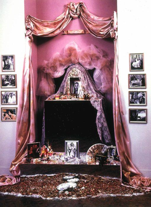 artwork comprised of altar for the dead