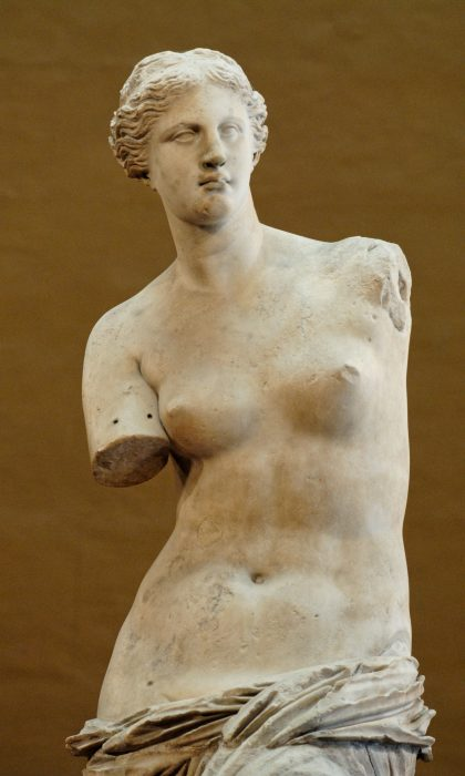 Close-up of Venus torso and head