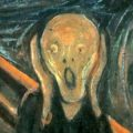 """Cropped version of """"The Scream"""" painting"""