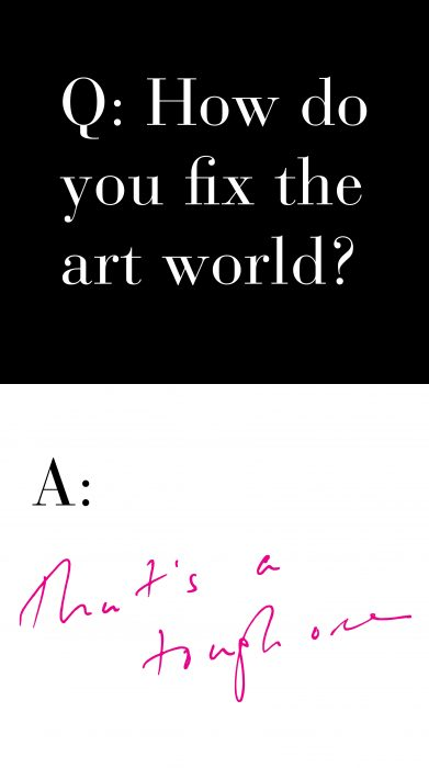 Graphi Q &A How do you fix the art world