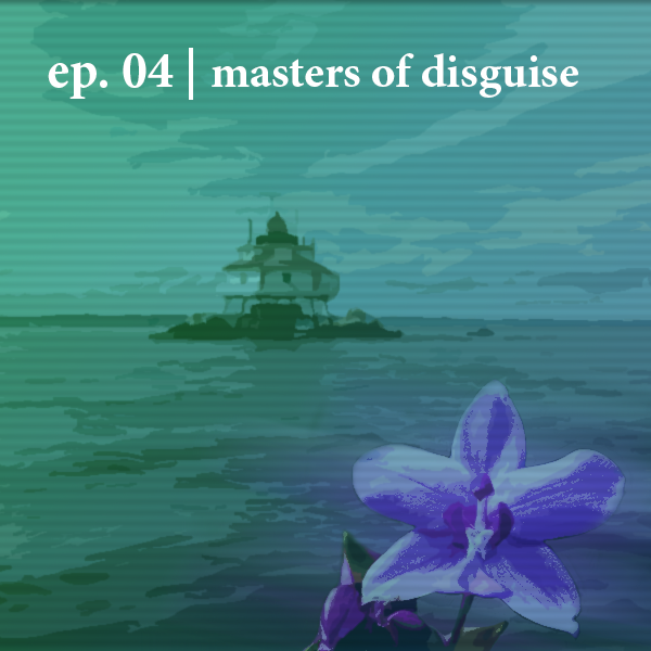 Masters of disguise podcast logo