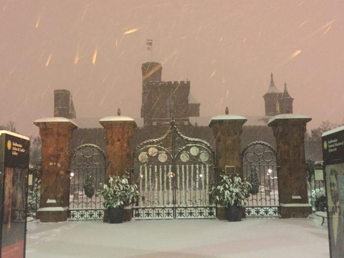 Castle in blizzard