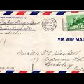 Hand-written airmail envelope